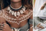 HENNA ALBA - ultima tendinta in decoratiuni de piele! 17 desene deosebite cu henna alba
