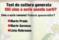 Test de cultură generală. Știi cine a scris aceste cărți românești