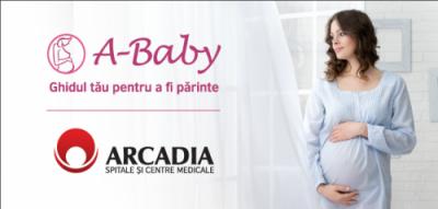 Caravana A-Baby – curs interactiv Arcadia despre sarcina, nastere si rolul de parinte