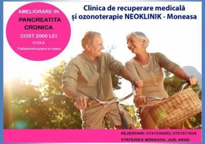 Ameliorare in Pancreatita Cronica sau Afectiuni Hepatice la NeoKlinik in statiunea Moneasa