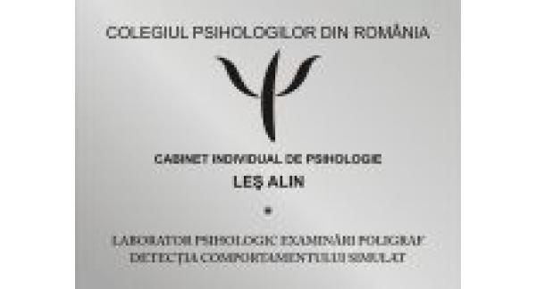 CABINET INDIVIDUAL DE PSIHOLOGIE LES ALIN si LABORATOR TESTARI POLIGRAF