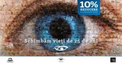 Aniversare 25 de ani Ama Optimex - 10% REDUCERE LA SERVICIILE MEDICALE LA PROGRAMAREA ONLINE